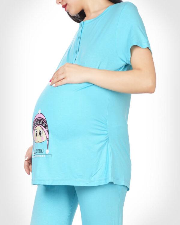 تیشرت و شلوار بلند پم پم بارداری
