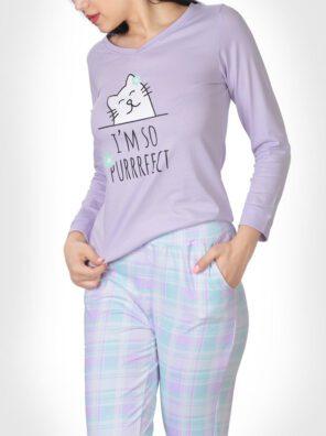 تیشرت و شلوار گربه ملوس زنانه