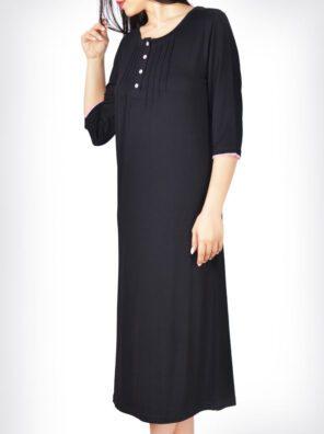 پیراهن گلپر مشکی زنانه