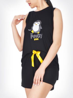 تاپ و شلوارک پنگوئن زنانه