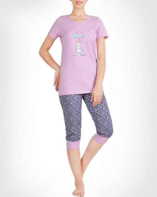 تیشرت و شلوار برمودا یونیکورن عاشق زنانه