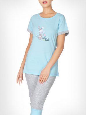 تیشرت و شلوار برمودا خرگوش مهربان زنانه
