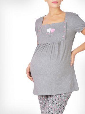 تیشرت و شلوار دل آرام بارداری
