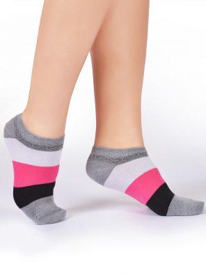 جوراب مچی راه راه زنانه